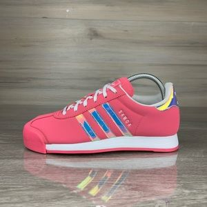 Pink Holographic Adidas Samoa sneaker shoes